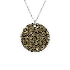 Unique Black damask Necklace