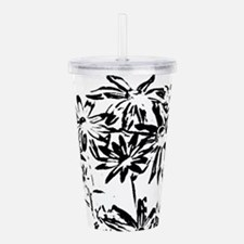 Transparent flowers Acrylic Double-wall Tumbler