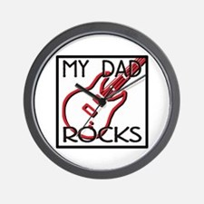 Father's Day My Dad Rocks Wall Clock