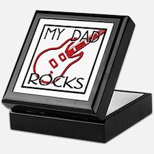 Father's Day My Dad Rocks Keepsake Box