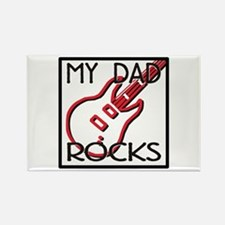 Father's Day My Dad Rocks Rectangle Magnet