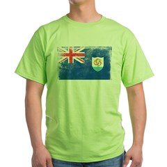 Vintage Anguilla Flag Green T-Shirt