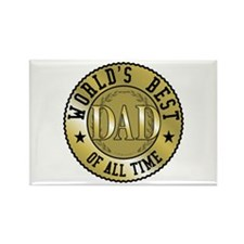 Father's Day World's Best Dad Rectangle Magnet