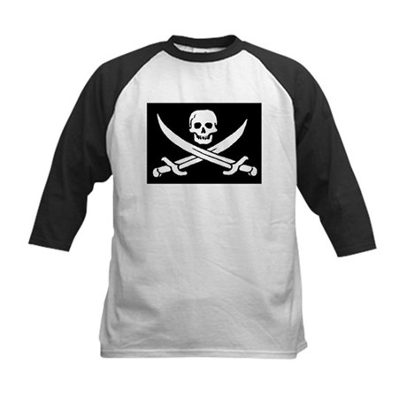 Pirate Flag Kids Baseball Jersey