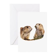 Prairie Dog and Wasp Greeting Cards