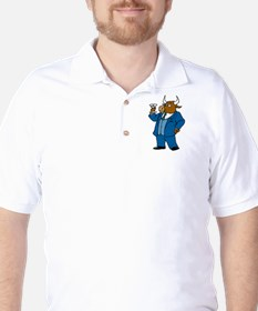 Bull With Drink Golf Shirt