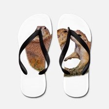 Funny Prairie Flip Flops