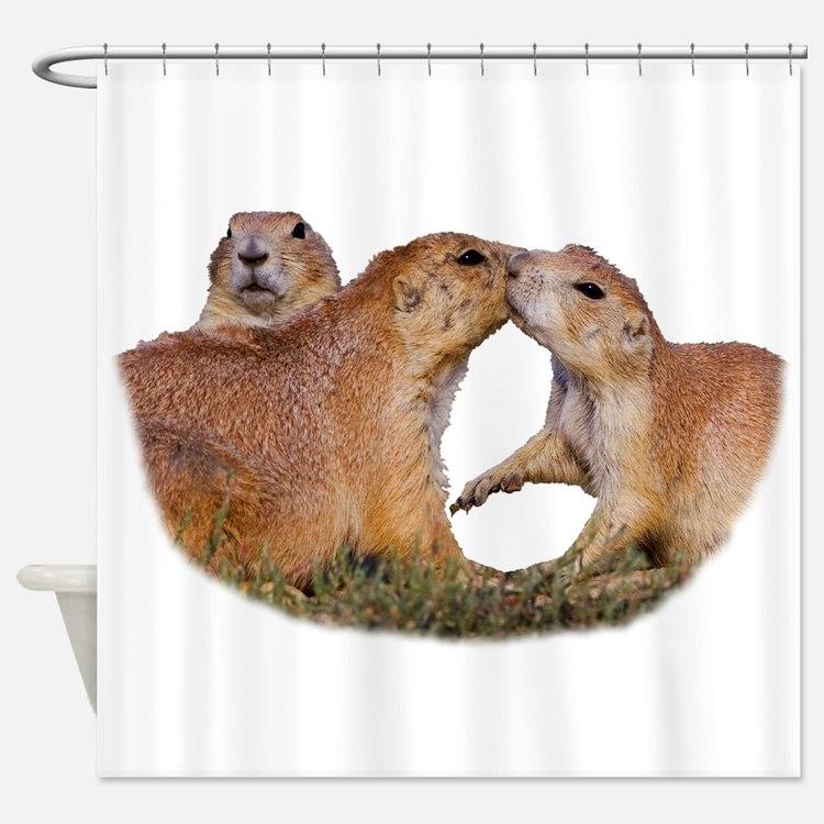 Prairie Dog Shower Curtains
