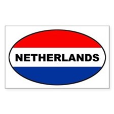 Netherlands-flag-oval Decal