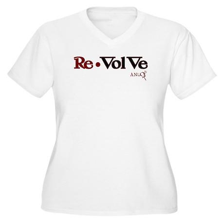 Re-VolVe Women's Plus Size V-Neck T-Shirt