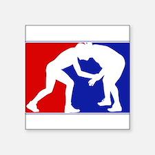 """Funny Wrestling Square Sticker 3"""" x 3"""""""