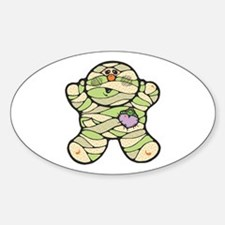 Cute Little Baby Mummy Oval Decal