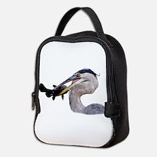 Cute Bird watching Neoprene Lunch Bag