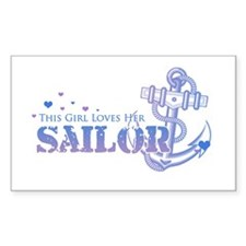 This girl loves her Sailor Rectangle Decal