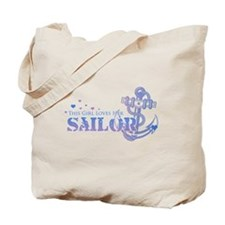 This girl loves her Sailor Tote Bag
