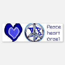 peace_heart_jewish_mug Bumper Bumper Bumper Sticker