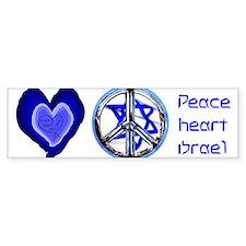 peace_heart_jewish_mug Bumper Bumper Sticker