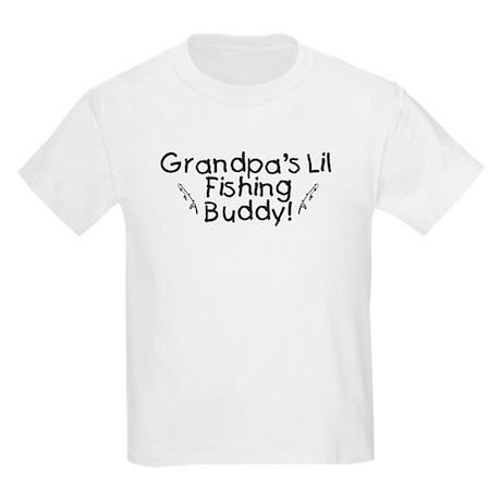 Grandpa's Fishing Buddy Kids Light T-Shirt