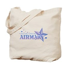 This girl loves her Airman Tote Bag