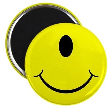"Cyclops Smiley Face 2.25"" Magnet (100 pack)"
