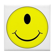 Cyclops Smiley Face Tile Coaster