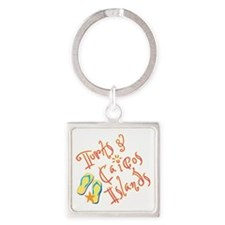 Turks and Caicos - Square Keychain