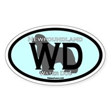 Water Dog (wd) Title Sticker - 10 Pack