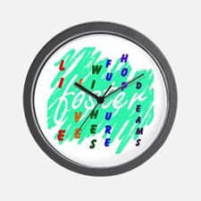 Funny Foster care Wall Clock