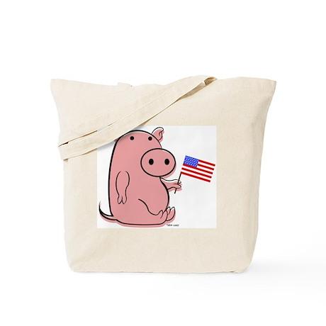 PATRIOTIC PINK PIG Tote Bag