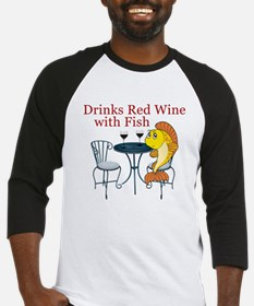 Cocktail waitress long sleeves shirts raglans 3 4 for Red wine with fish