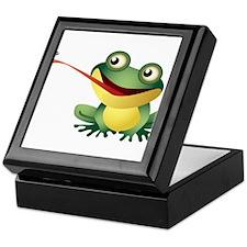 Frog Catching Bug Keepsake Box