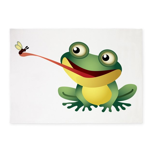 Frog Catching Bug 5'x7'Area Rug By UnderTheSea2