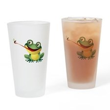 Frog Catching Bug Drinking Glass