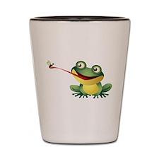 Frog Catching Bug Shot Glass