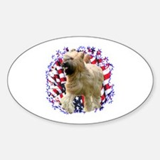 Briard Patriotic Oval Decal