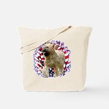 Briard Patriotic Tote Bag