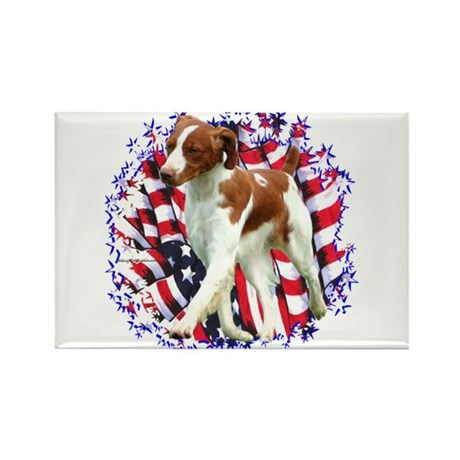 Brittany Patriotic Rectangle Magnet