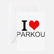 I Love Parkour Greeting Cards