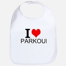 I Love Parkour Bib