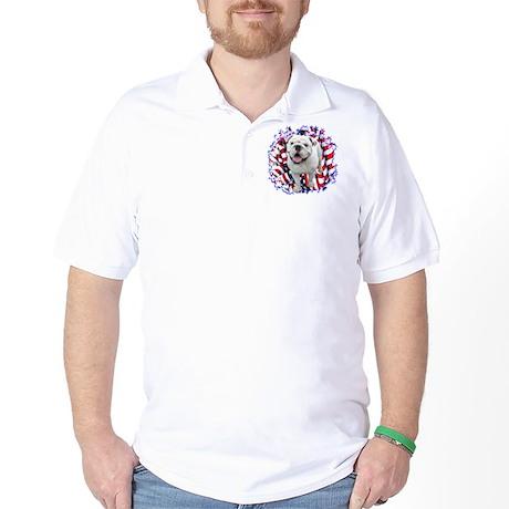 Bulldog Patriotic Golf Shirt