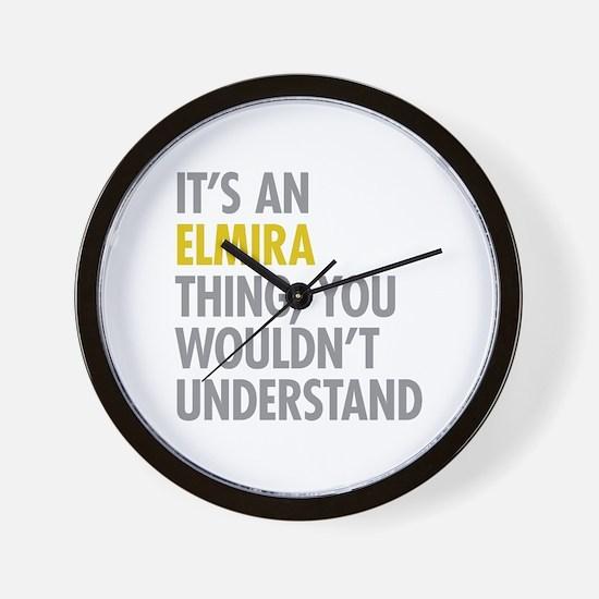 Its An Elmira Thing Wall Clock