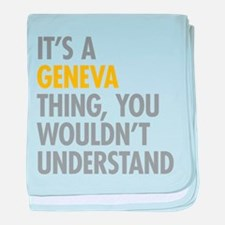 Its A Geneva Thing baby blanket