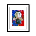 Pop Marc Paul (blu/red) Framed Panel Print