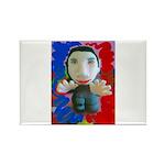Pop Marc Paul (blu/red) Rectangle Magnet (100 pack