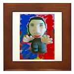 Pop Marc Paul (blu/red) Framed Tile