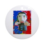 Pop Marc Paul (blu/red) Ornament (Round)