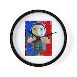 Pop Marc Paul (blu/red) Wall Clock