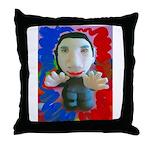 Pop Marc Paul (blu/red) Throw Pillow