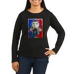Pop Marc Paul (blu/red) Women's Long Sleeve Dark T