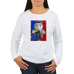 Pop Marc Paul (blu/red) Women's Long Sleeve T-Shir
